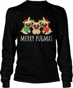 Merry Pugmas Pug Dog Ugly Christmas  LongSleeve