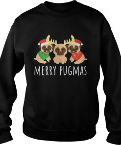 Merry Pugmas Pug Dog Ugly Christmas  Sweatshirt