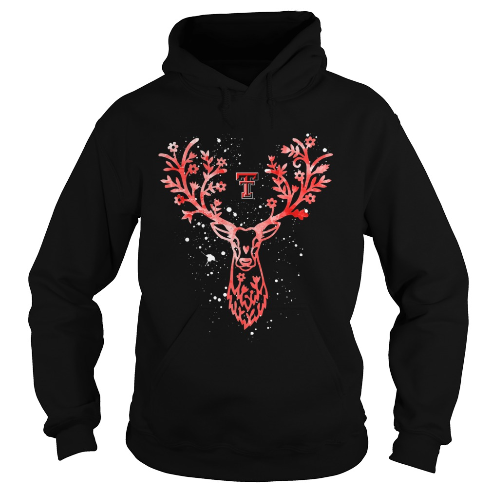 Texas Tech Red Raiders Antler Logo Alumni Graduation Hoodie