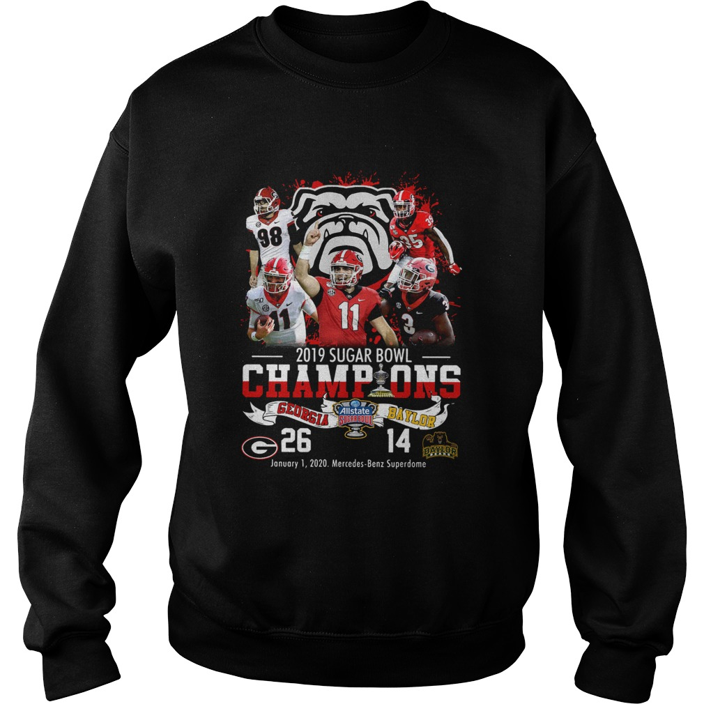 2019 Sugar Bowl Champions Georgia Bulldogs Baylor Bears Sweatshirt