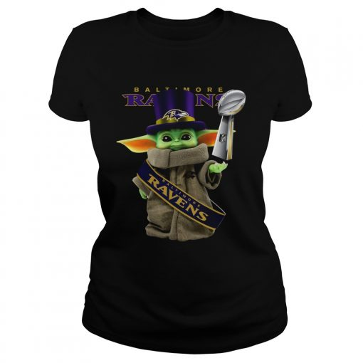 Baby Yoda Baltimore Ravens Cup  Classic Ladies