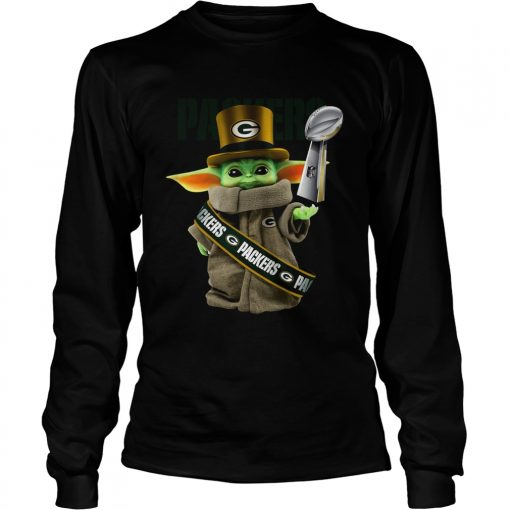 Baby Yoda Green Bay Packer Cup  LongSleeve