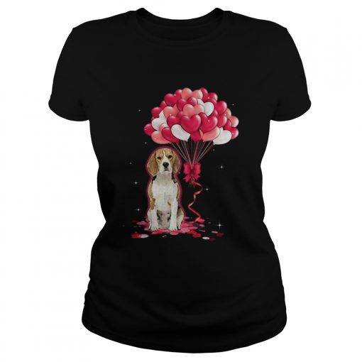 Beagle Love Balloons  Classic Ladies