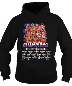 Clemson Tigers Acc Football Champions 2019 Signature  Hoodie