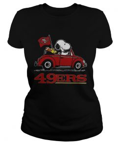 Snoopy Driving Volkswagen San Francisco 49ers  Classic Ladies