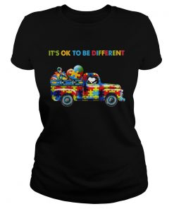 Snoopy driving Autism its ok to be different  Classic Ladies