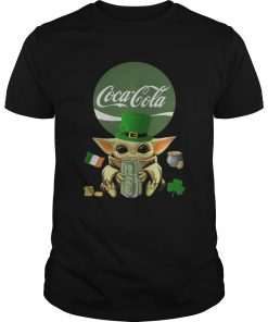 St Patricks Day Baby Yoda Hugging Coca Cola Green  Unisex