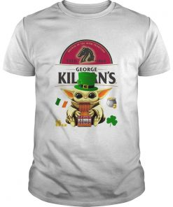 St Patricks Day Baby Yoda Hugging Irish Red Beer George Killians  Unisex