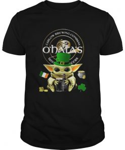 St Patricks Day Baby Yoda Hugging Oharas Irish Stout Beer  Unisex