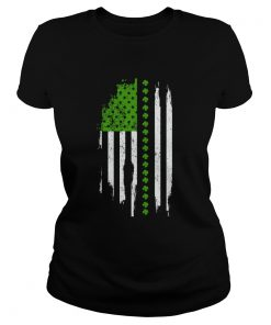 St Patricks Day Irish American Flag  Classic Ladies