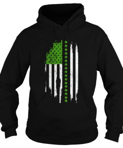 St Patricks Day Irish American Flag  Hoodie