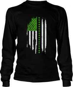 St Patricks Day Irish American Flag  LongSleeve
