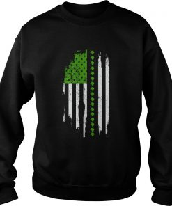 St Patricks Day Irish American Flag  Sweatshirt