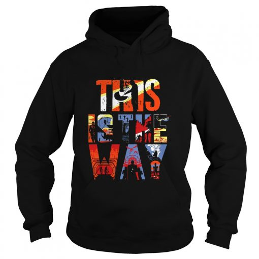 The Mandalorian this is the way art  Hoodie