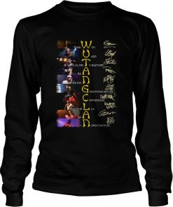 WuTang Clan Raekwon U God Oldirty Bastard Rza Method Man Signatures  LongSleeve