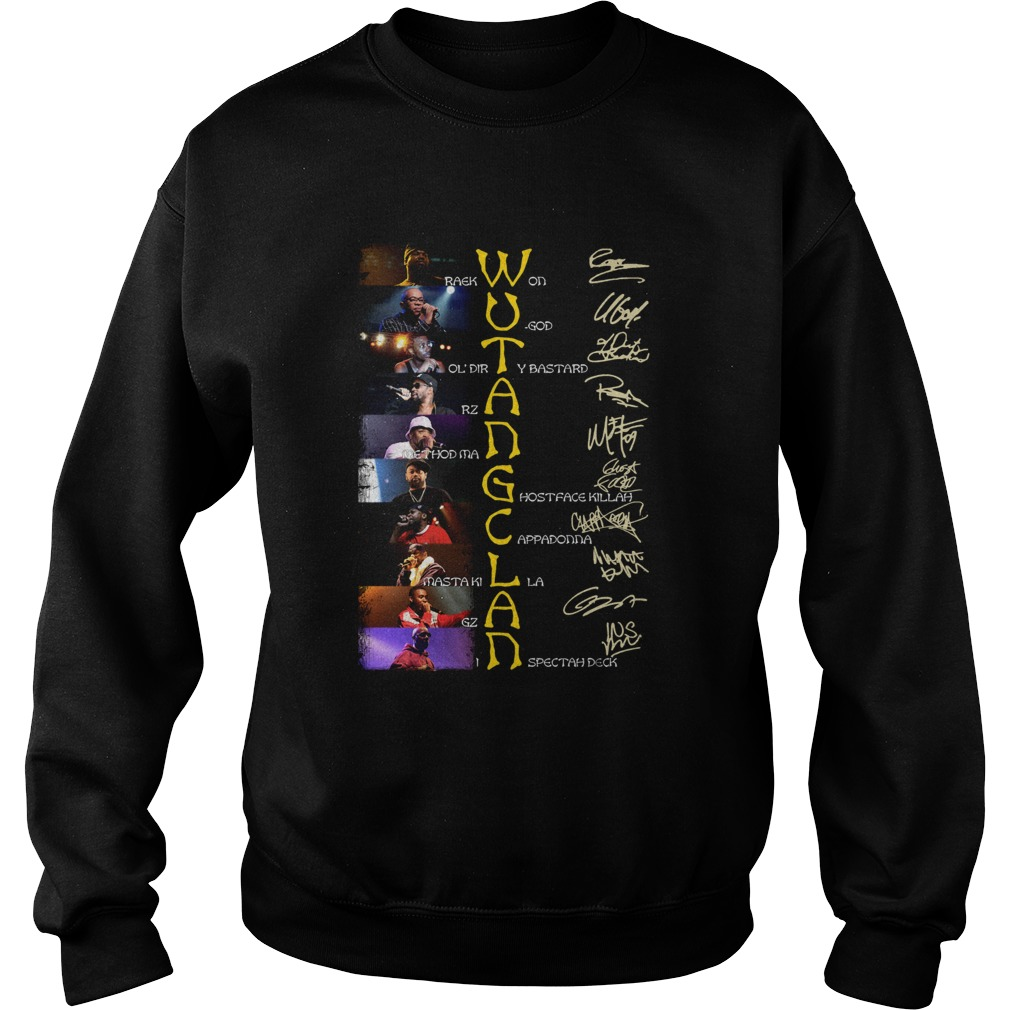 WuTang Clan Raekwon U God Oldirty Bastard Rza Method Man Signatures Sweatshirt