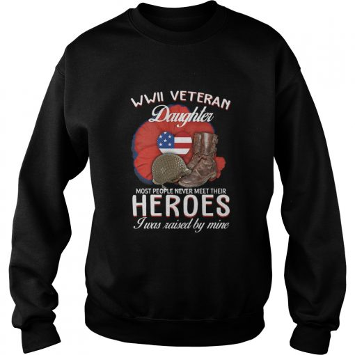 WwII Veteran Daughter Most People Never Meet Their Heroes  Sweatshirt