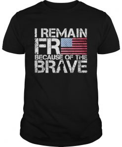 American flag I remain free because of the brave Veteran  Unisex