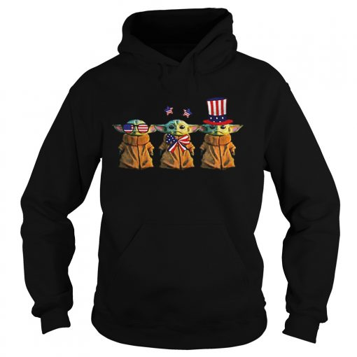 Baby Yoda Patriot American USA Star Wars  Hoodie