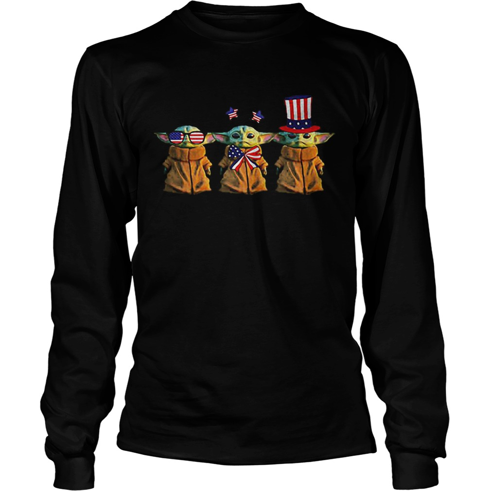 Baby Yoda Patriot American USA Star Wars LongSleeve
