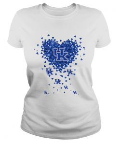 Kentucky Wildcats Tiny Hearts Shape  Classic Ladies