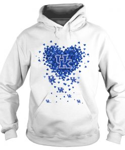 Kentucky Wildcats Tiny Hearts Shape  Hoodie