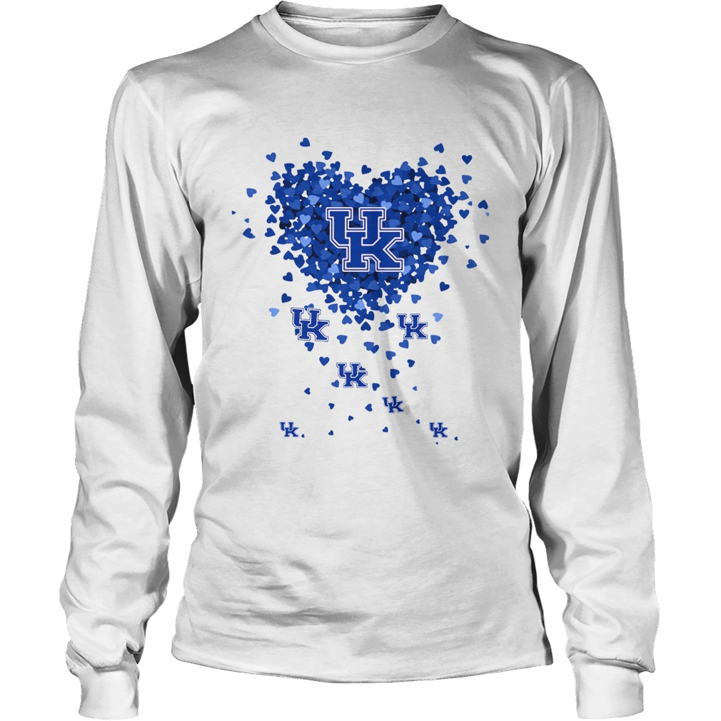 Kentucky Wildcats Tiny Hearts Shape LongSleeve