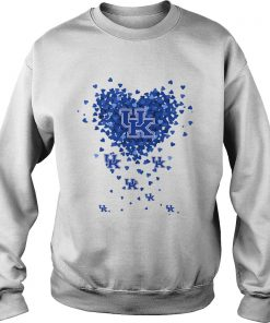 Kentucky Wildcats Tiny Hearts Shape  Sweatshirt