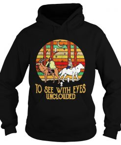Mononoke and Ashitaka To see with eyes unclouded retro  Hoodie