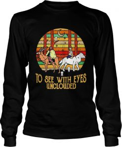 Mononoke and Ashitaka To see with eyes unclouded retro  LongSleeve