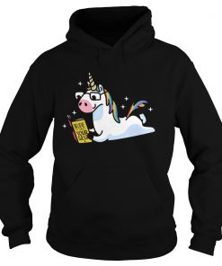 Unicorn Riding Believe In Yourself  Hoodie