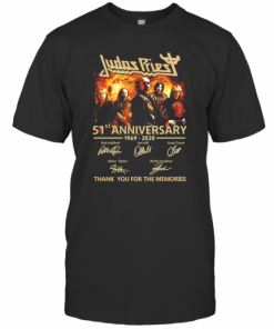 Judas Priest 51St Anniversary 1969 2020 Signatures Thank You For The Memories T-Shirt Classic Men's T-shirt