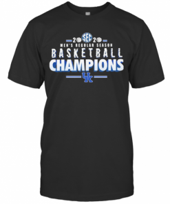Kentucky Wildcats 2020 Sec Men'S Regular Season Basketball Champions T-Shirt Classic Men's T-shirt