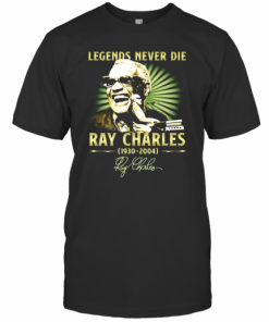 Legends Never Die Ray Charles 1930 2004 Signature T-Shirt Classic Men's T-shirt