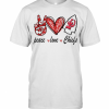 Peace Love Kansas City Chiefs T-Shirt Classic Men's T-shirt