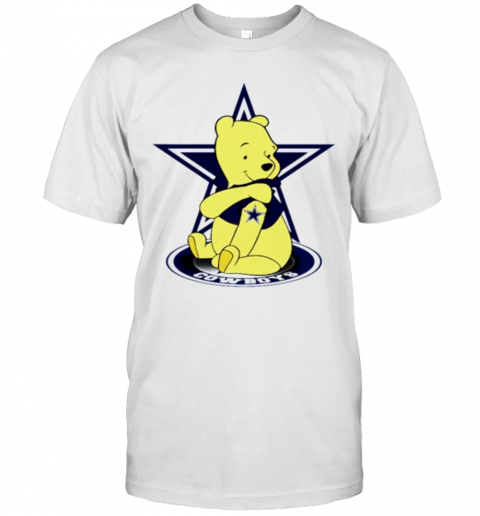 Pooh Tattoo Dallas Cowboys T-Shirt Classic Men's T-shirt