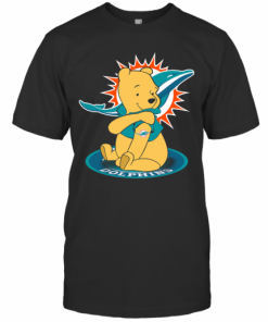 Pooh Tattoo Miami Dolphins T-Shirt Classic Men's T-shirt
