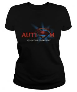 Superman Logo Autism Its Ok To Be Different  Classic Ladies