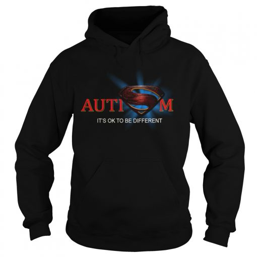 Superman Logo Autism Its Ok To Be Different  Hoodie