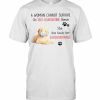 A Woman Cannot Survive On Self Quarantine Alone She Also Needs Her Golden Doodle T-Shirt Classic Men's T-shirt