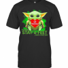 Baby Yoda Hug Jiffy Lube Please Remember Stay 6 Feet Have A Nice Day T-Shirt Classic Men's T-shirt