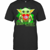 Baby Yoda Hug Wipro Please Remember Stay 6 Feet Have A Nice Day T-Shirt Classic Men's T-shirt