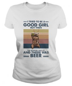 Bear I tried to be a good girl but then the bonfire was lit and there was beer vintage  Classic Ladies
