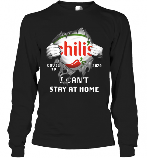 Chili'S Inside Me Covid 19 2020 I Can'T Stay At Home T-Shirt Long Sleeved T-shirt