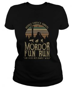 Middle Earths Annual Mordor Fun Run One Does Not Simply Walk Vintage  Classic Ladies