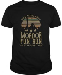 Middle Earths Annual Mordor Fun Run One Does Not Simply Walk Vintage  Unisex