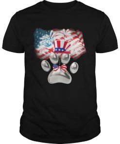 Paw American flag veteran Independence Day  Unisex