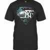 Superhero philadelphia eagles and new york yankees diamond american flag independence day  T-Shirt Classic Men's T-shirt