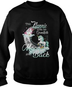 This Nannie Loves Her Grandkids To The Moon And Back Unicorn  Sweatshirt