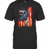 Camaro By Chevrolet American Flag Independence Day T-Shirt Classic Men's T-shirt
